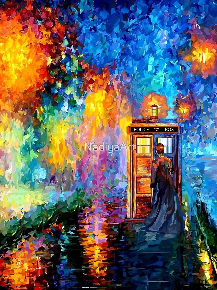 Mysterious Man at beautiful Rainbow Place by NadiyaArt
