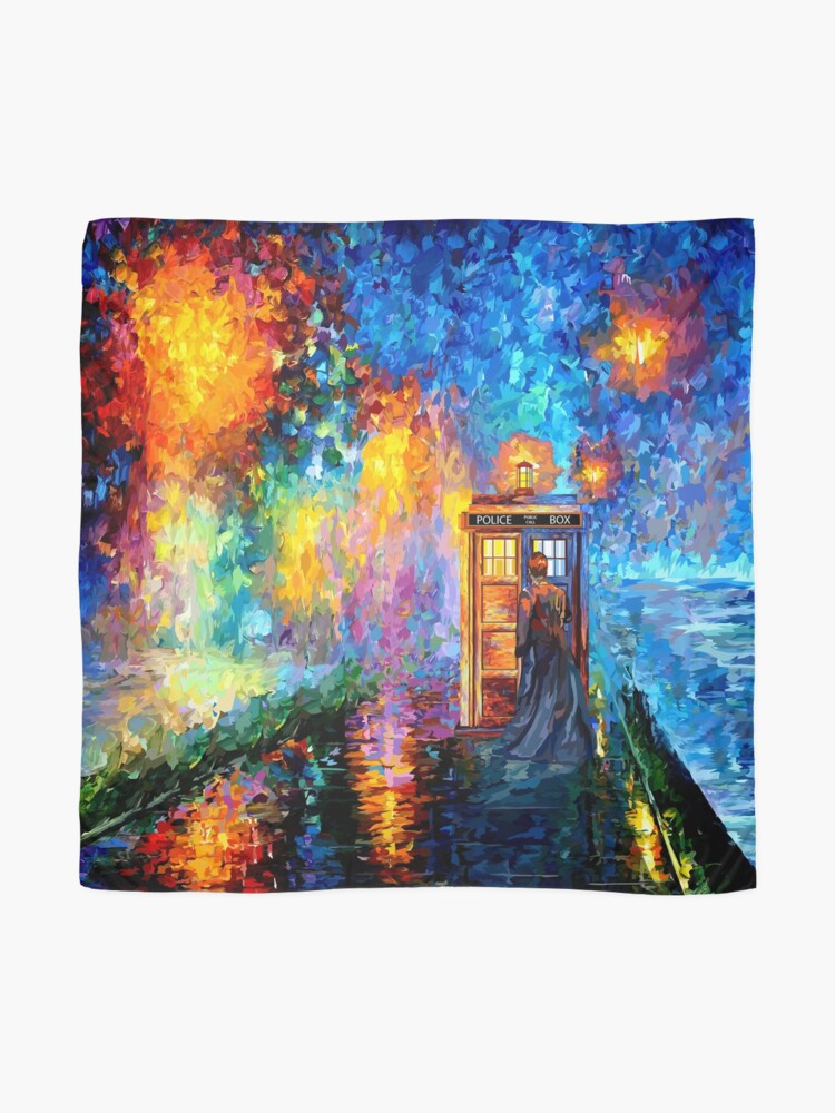 Alternate view of Mysterious Man at beautiful Rainbow Place Scarf