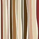 Retro Stripes Savannah Brown by pawpapaya
