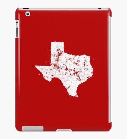 Vintage State Map Silhouette of Texas (White) iPad Case/Skin