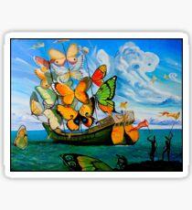 SCHMETTERLING LIEFERUNG: Vintage Dali abstrakte Malerei drucken Sticker