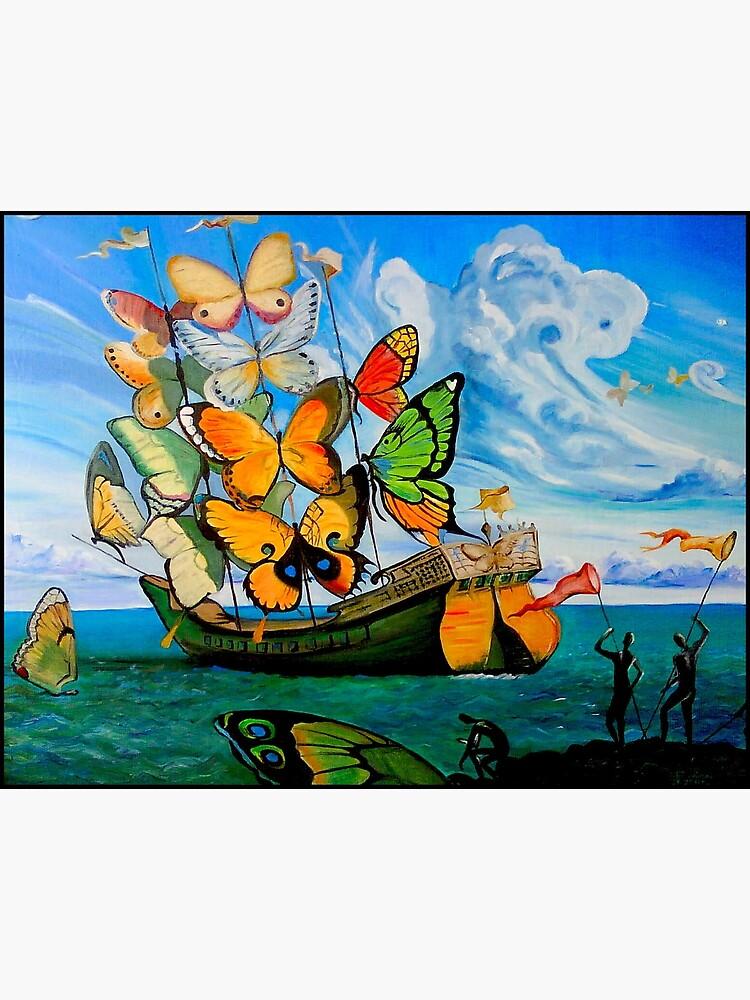 SCHMETTERLING LIEFERUNG: Vintage Dali abstrakte Malerei drucken von posterbobs