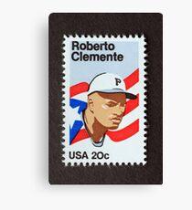 1984 20¢ Roberto Clemente Postage Stamp Canvas Print