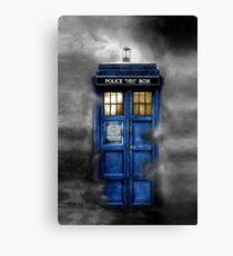 Haunted Police Phone Box Canvas Print