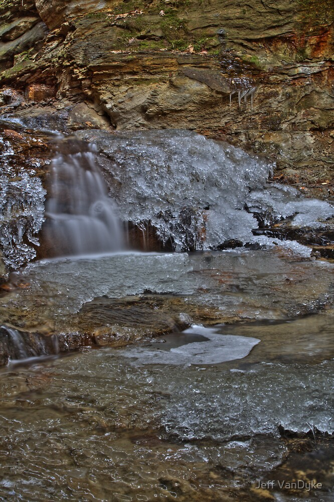 Rocky Hollow - Icy Waterfall #2 by Jeff VanDyke