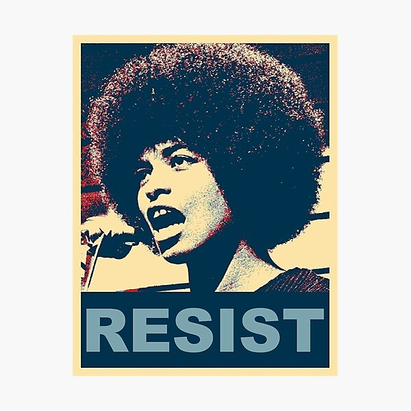 Angela -RESIST Photographic Print