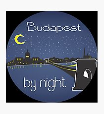 Budapest By Night, circle Photographic Print