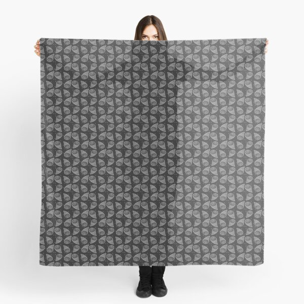 Abstract Spin (black & white) Scarf