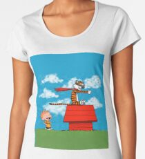 Calvin and Hobbes Women's Premium T-Shirt