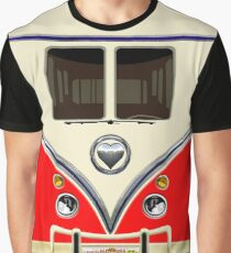 kawaii Red love bug mini bus Graphic T-Shirt