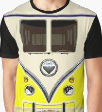 kawaii yellow love bug mini bus Graphic T-Shirt