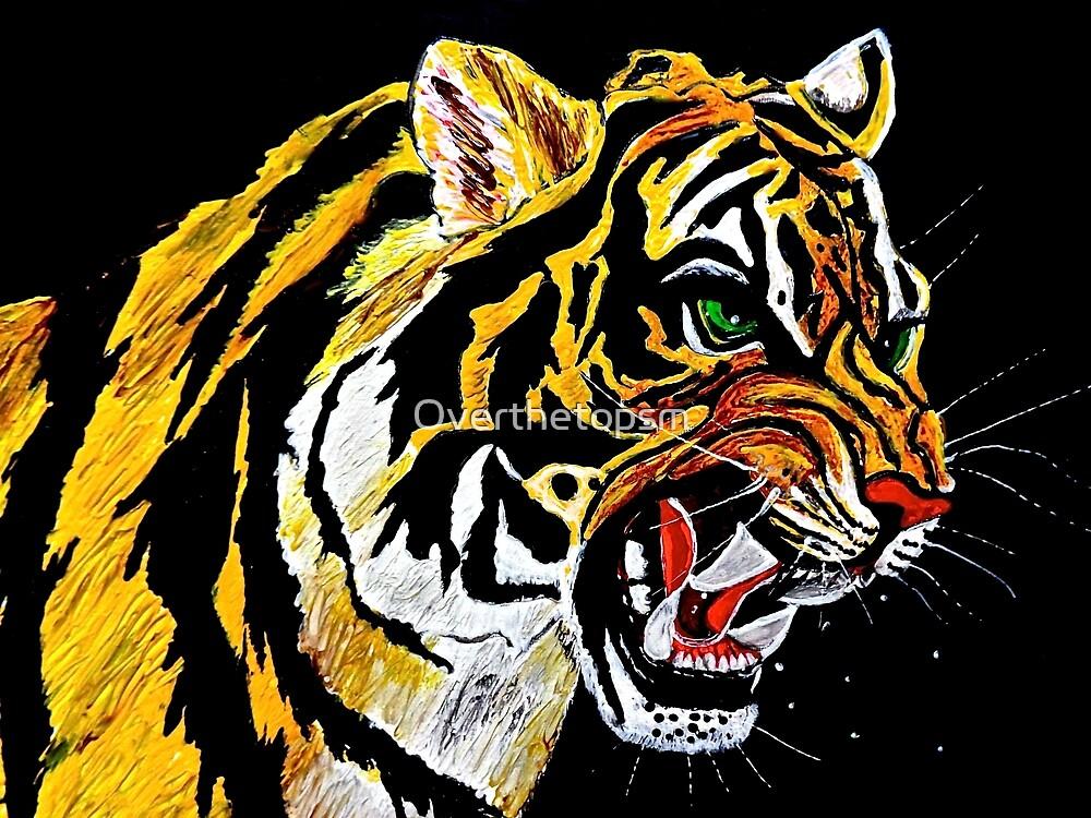 Tiger Stalking Prey by Saundra Myles