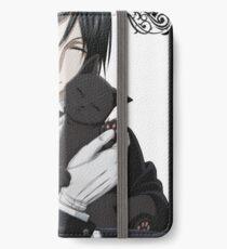 Black Butler Sebastian With Cat iPhone Wallet/Case/Skin