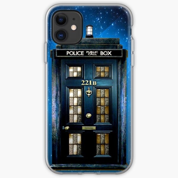 Detective Phone box with 221b number iPhone Soft Case