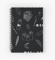 Witchy Stuff in black Spiral Notebook