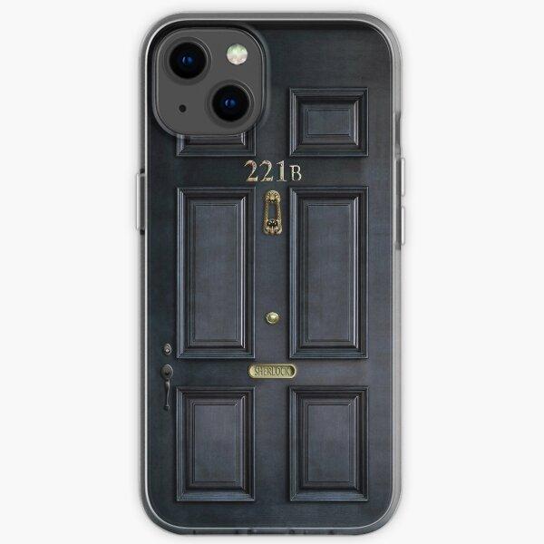 221b baker street black wood door iPhone Soft Case