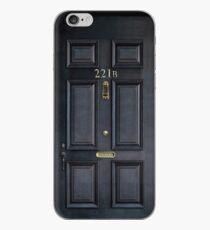 Vinilo o funda para iPhone 221b baker street puerta de madera negra