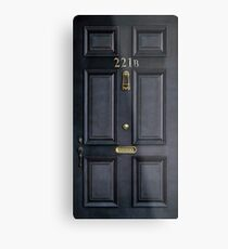 221b Bäcker Straße schwarz Holztür Metallbild