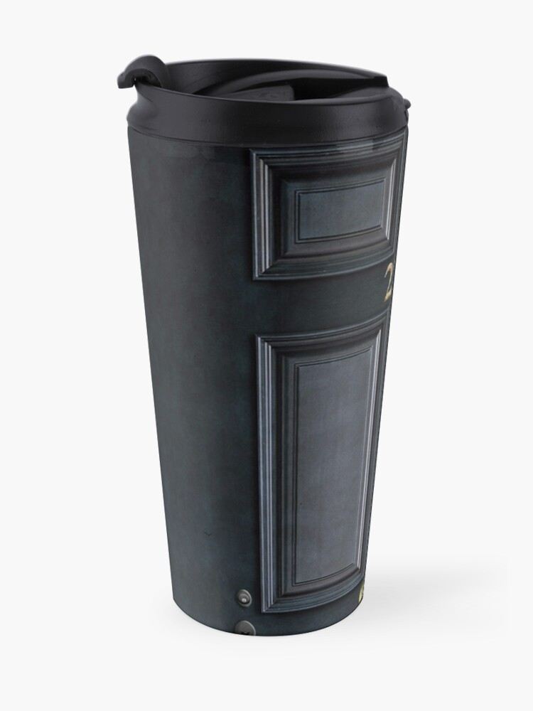 Alternate view of 221b baker street black wood door Travel Mug