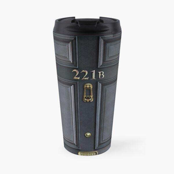 221b baker street black wood door Travel Mug