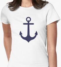 Anchors Aweigh! Women's Fitted T-Shirt