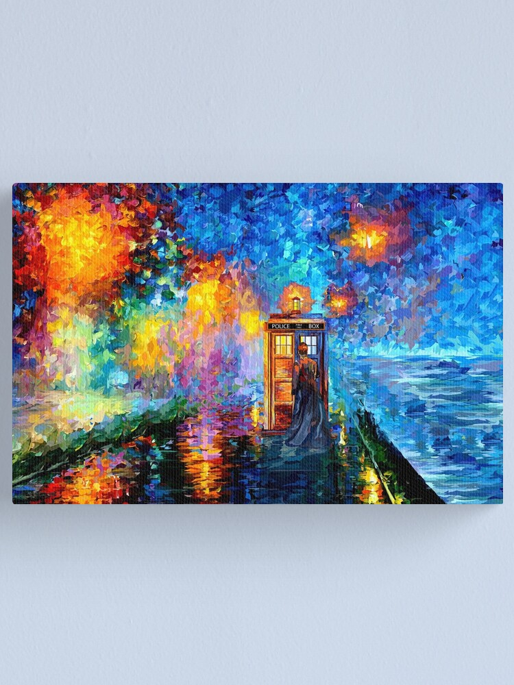 Alternate view of Mysterious Man at beautiful Rainbow Place Canvas Print