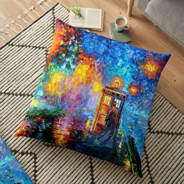 Mysterious Man at beautiful Rainbow Place Floor Pillow