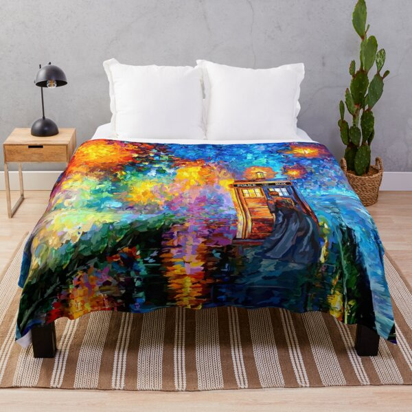 Mysterious Man at beautiful Rainbow Place Throw Blanket