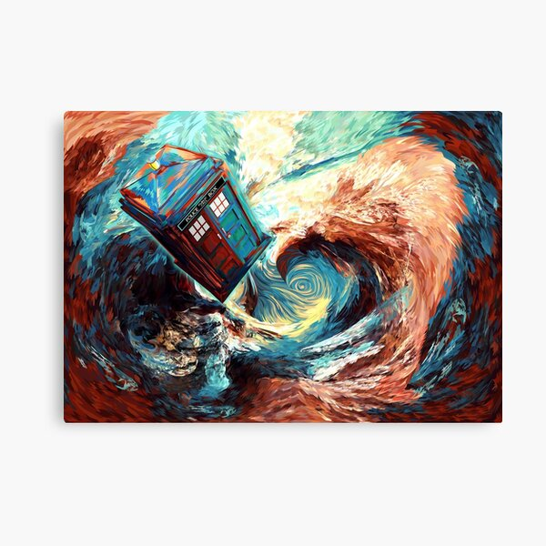 time travel box jump into dark vortex abstract Canvas Print