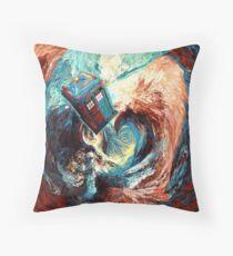 time travel box jump into dark vortex abstract Floor Pillow