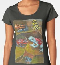 Cute and Colorful Poison Dart Frogs  Women's Premium T-Shirt