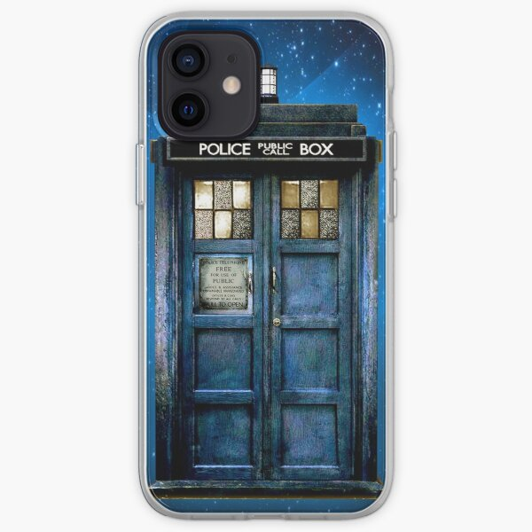 Phone booth with Yellow stained glass windows iPhone Soft Case