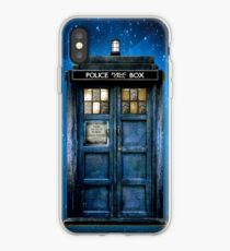 Phone booth with Yellow stained glass windows iPhone Case