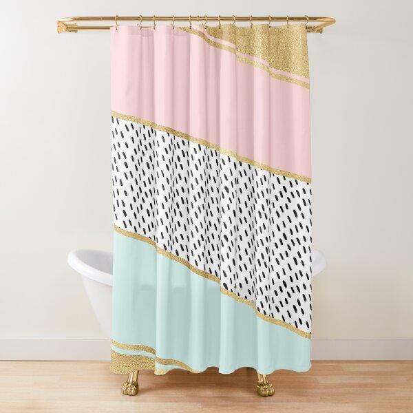 Golden pastel luminescence Shower Curtain