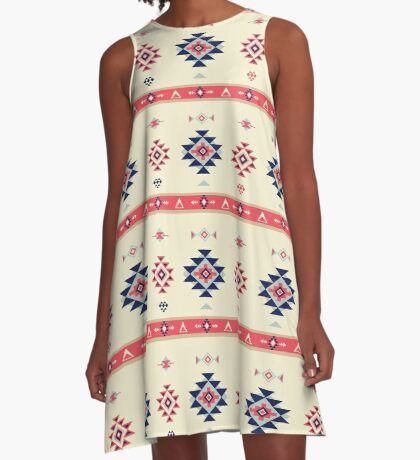 AFE Tribal Pattern2 A-Line Dress