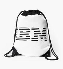 ibm black logo Drawstring Bag