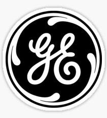 general electric logo in back Sticker