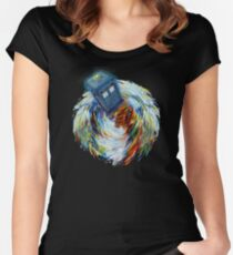Tornado Time Vortex Abstract Women's Fitted Scoop T-Shirt