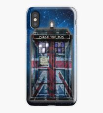 Union Jack Public Phone Booth iPhone Case