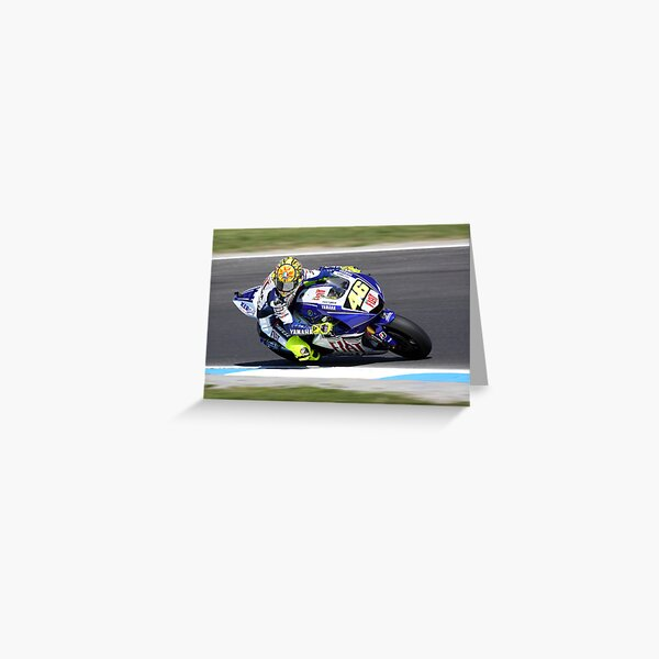 Valentino gassing it at MG in 2008 Greeting Card