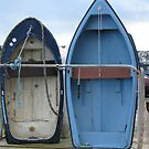 BLUE BOATS AT ST IVES IN CORNWALL - ENGLAND by kazaroodie