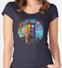 Beutiful Blondie Time traveller abstract Women's Fitted Scoop T-Shirt