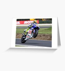 Valentino Rossi Mono 2008 Greeting Card
