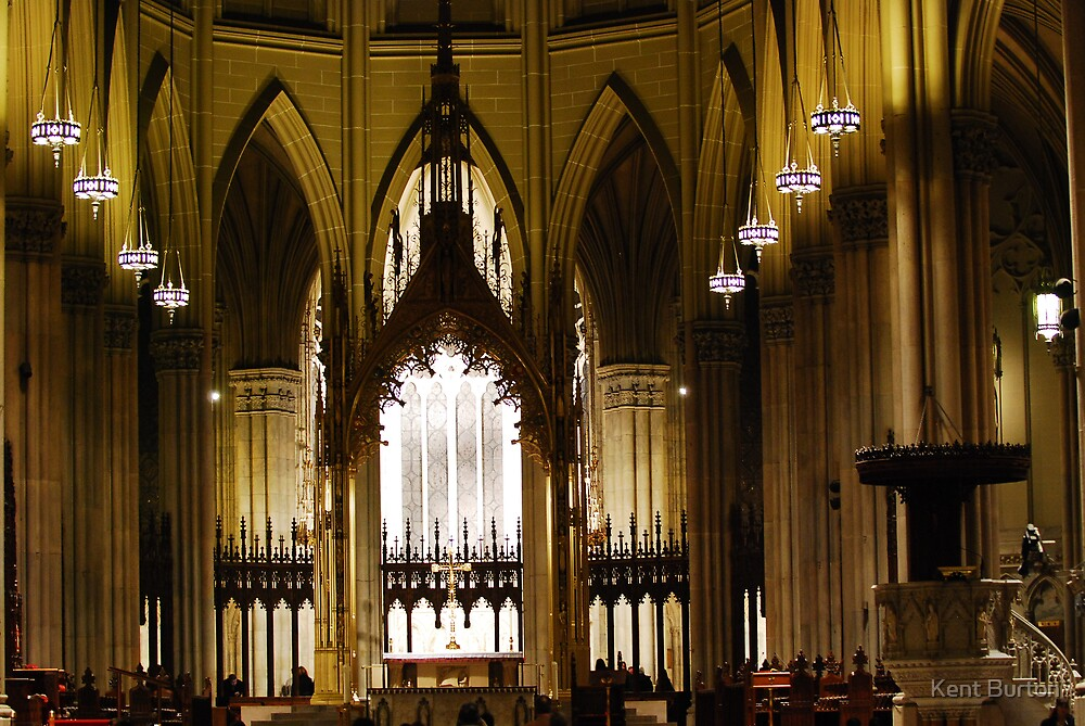 St Patrick's Cathedral - New York City - USA by Kent Burton