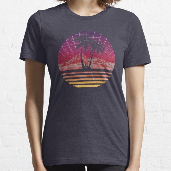 Modern Retro 80s Outrun Sunset Palm Tree Silhouette - Original Essential T-Shirt