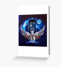 Angel dont blink Greeting Card