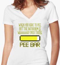 PEE BAR Women's Fitted V-Neck T-Shirt