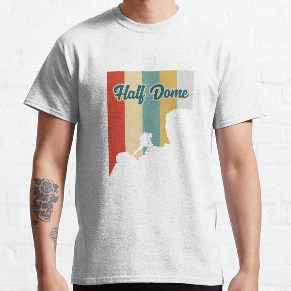 Retro Half Dome Mountain Hiking T-Shirt Classic T-Shirt