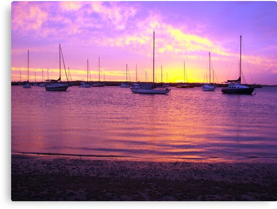 Purple Boats by Martice