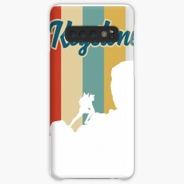 Retro Keystone Mountain Hiking T-Shirt Samsung Galaxy Snap Case